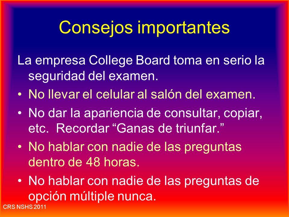 CRS NSHS 2011 Consejos y reglas