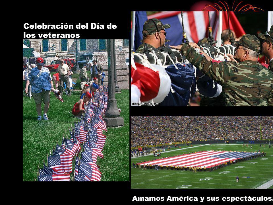 Celebración del Día de los veteranos Amamos América y sus espectáculos.