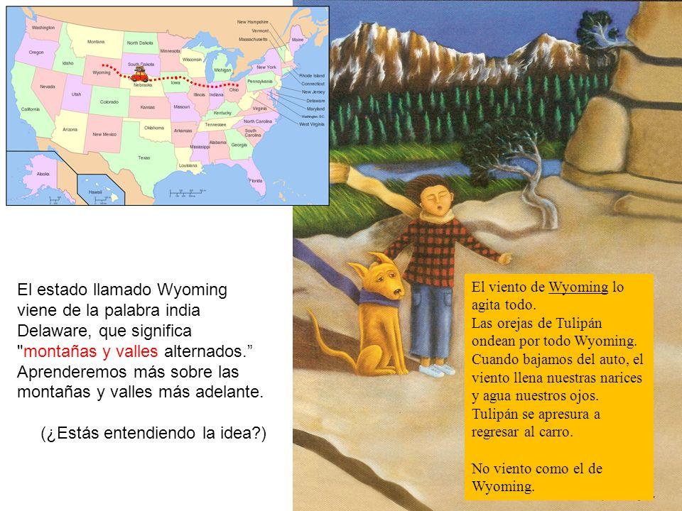 El estado llamado Wyoming viene de la palabra india Delaware, que significa