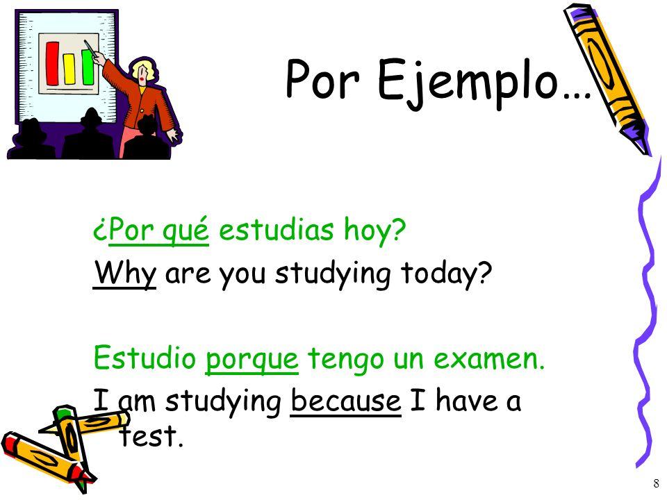 7 ¿Cuanto cuesta el coche? How much the car cost? ¿Cuánta tarea hay en la clase de español? How much homework is there in Spanish class? ¿Cuántos estu