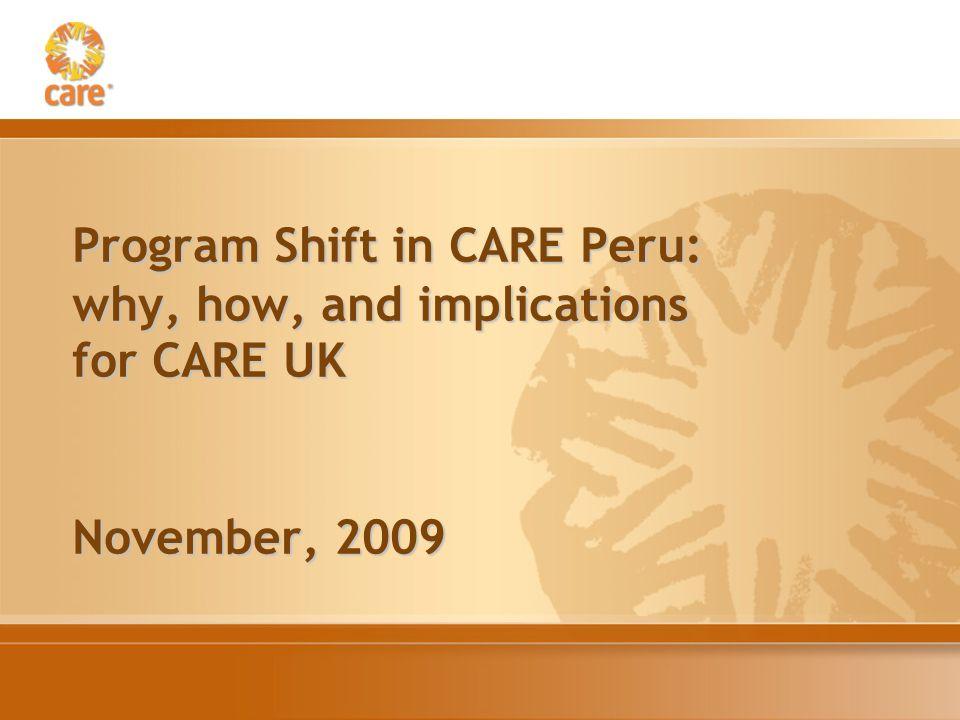 How to organize and focus programs Sector Peru/Ecuador: Health, education etc.