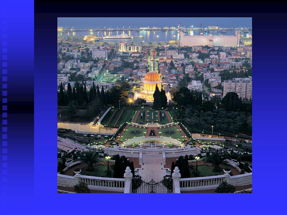 Haifa Cinco diferentes religiones coexistiendo en armonia Cinco diferentes religiones coexistiendo en armonia Vistas panoramicas resplandecientes de l
