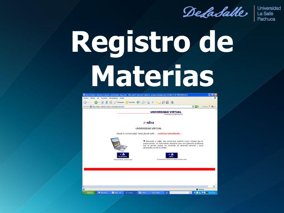 Registro de Materias