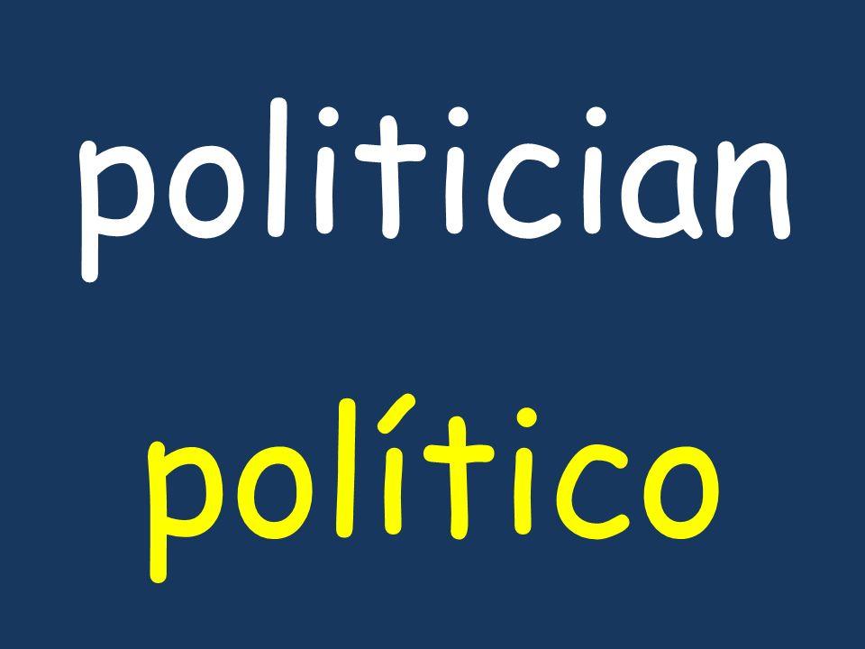 politician político