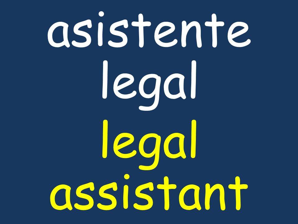asistente legal legal assistant