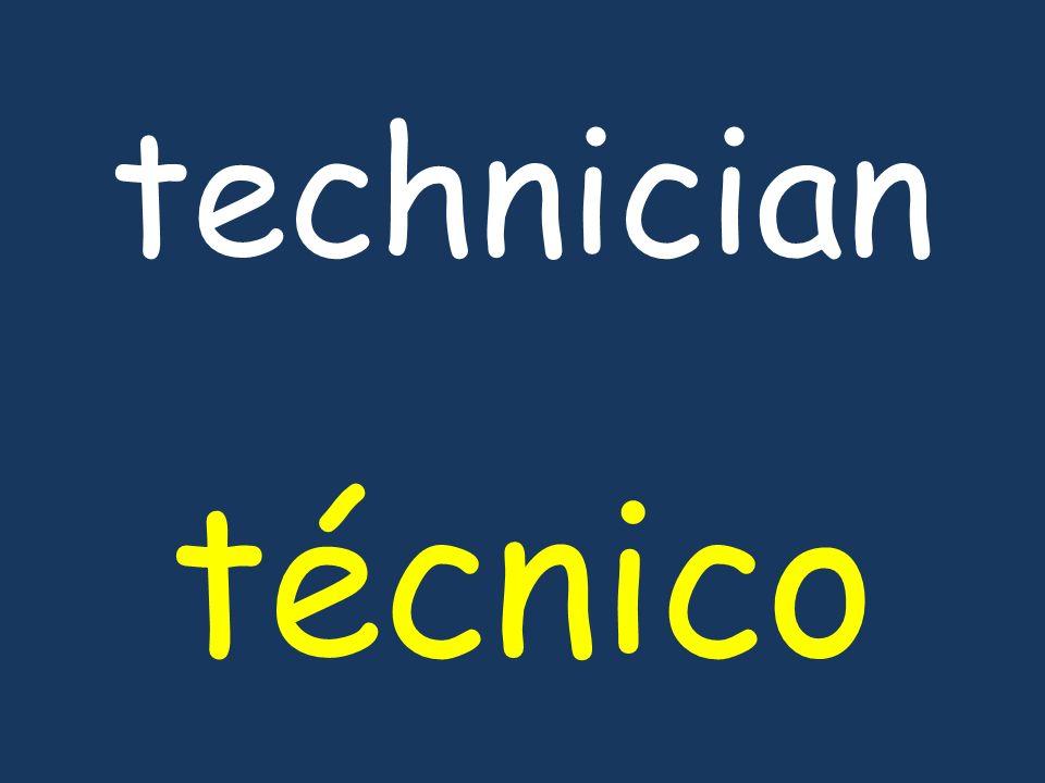 technician técnico