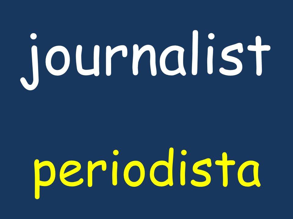 journalist periodista