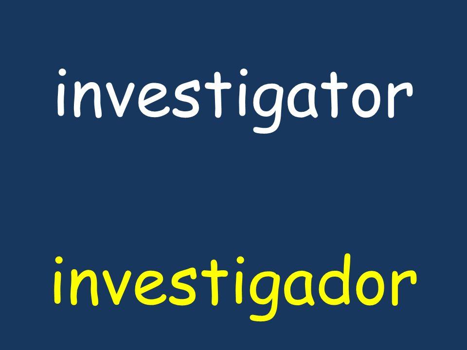 investigator investigador