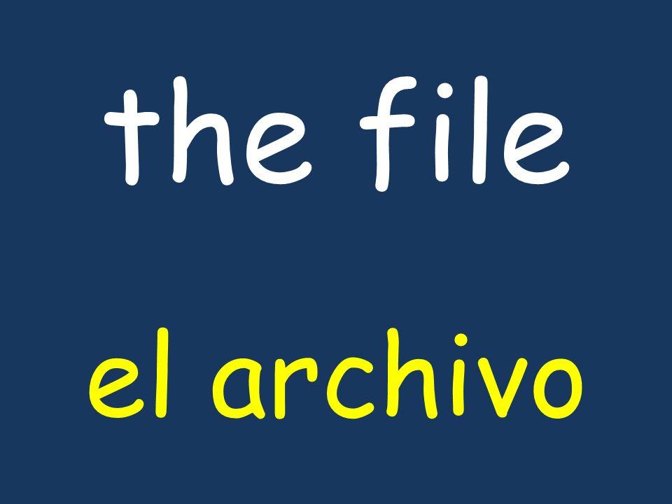 the file el archivo