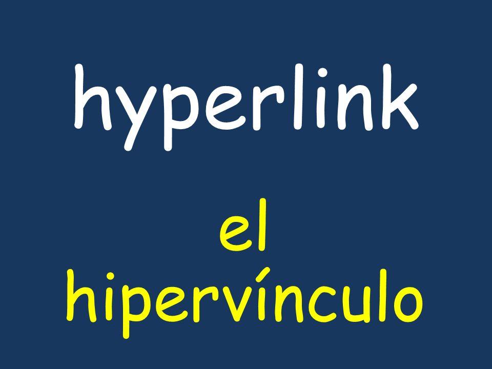 hyperlink el hipervínculo