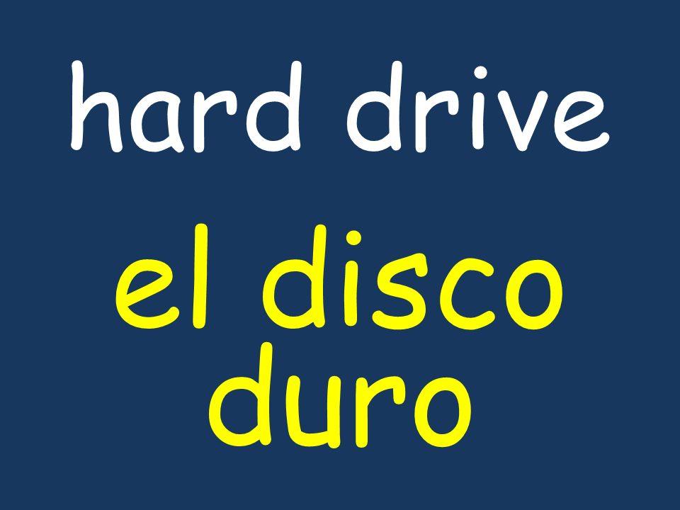 hard drive el disco duro