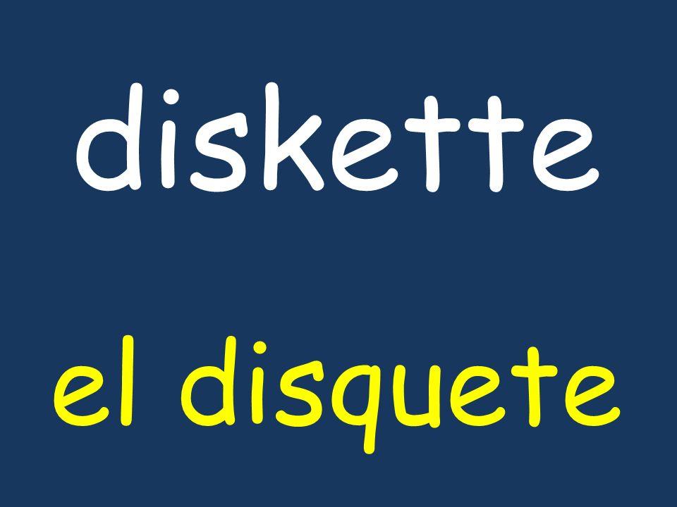 diskette el disquete