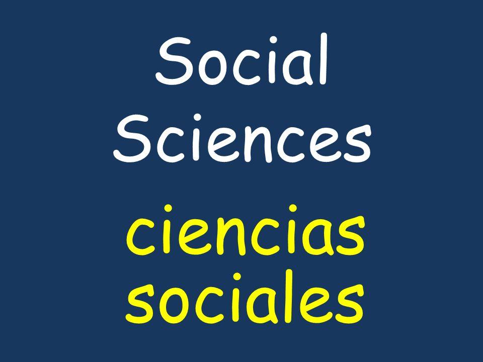 Social Sciences ciencias sociales