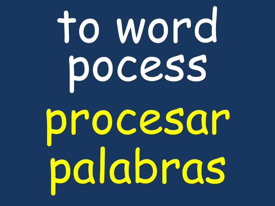to word pocess procesar palabras
