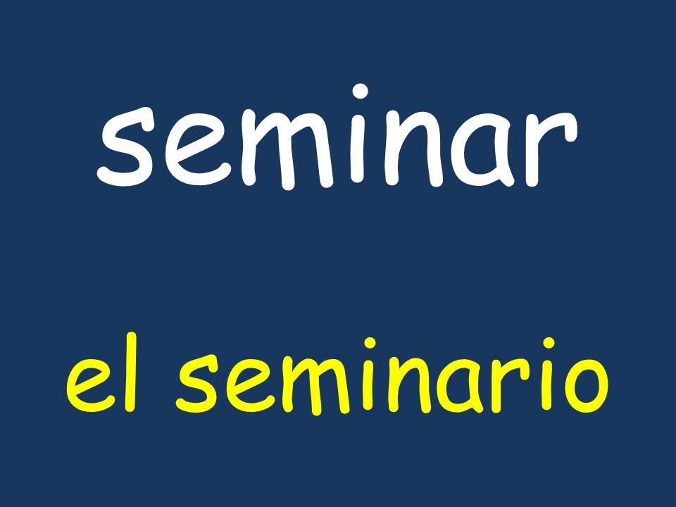 seminar el seminario
