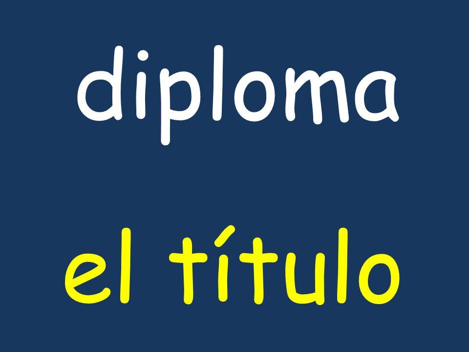 diploma el título