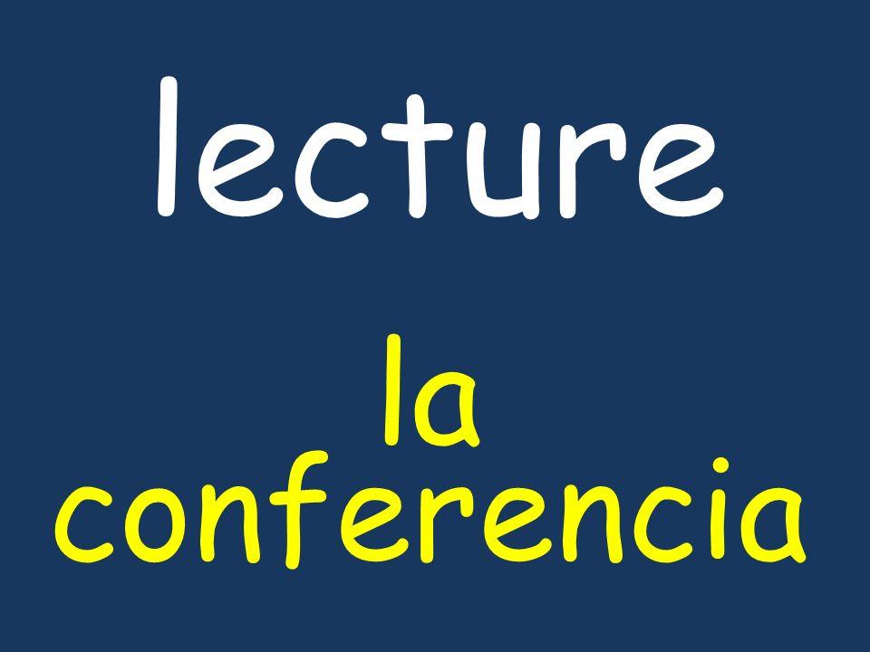lecture la conferencia