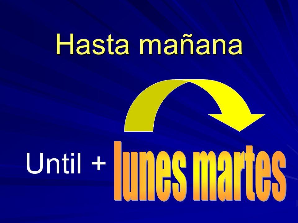 Until + Hasta mañana