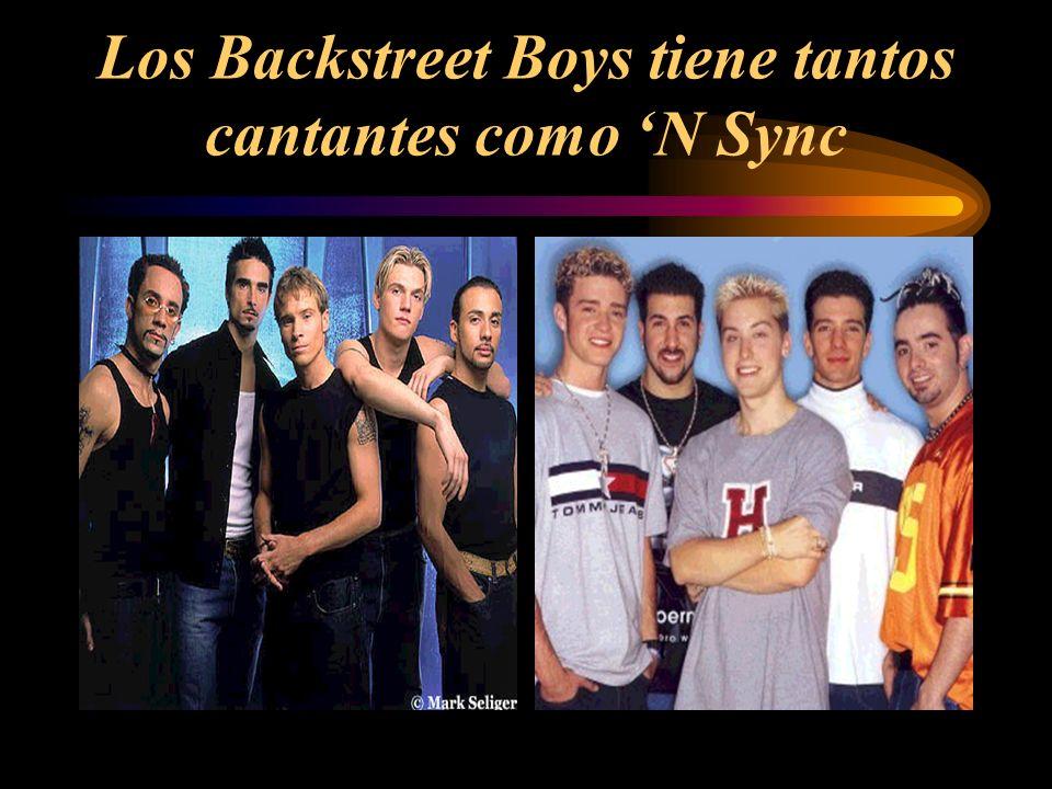 Los Backstreet Boys tiene tantos cantantes como N Sync