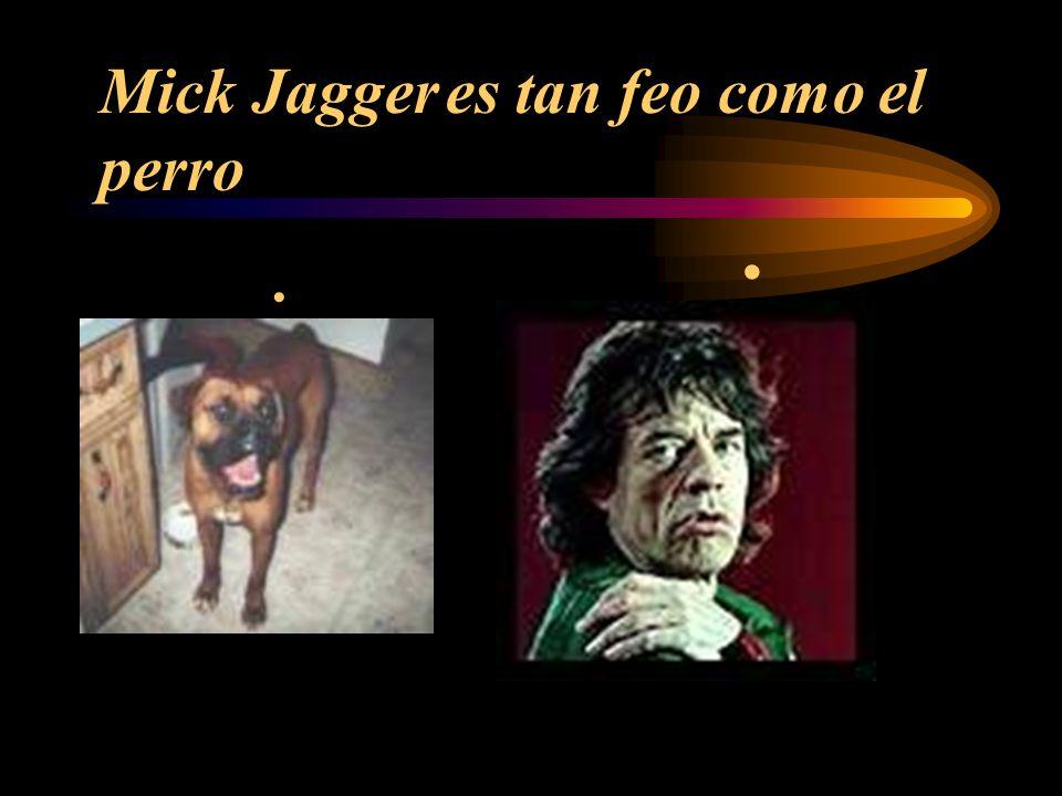 Mick Jagger es tan feo como el perro