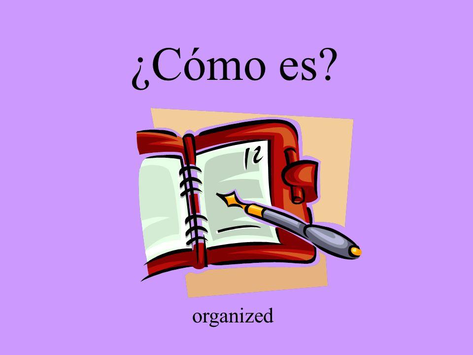 ¿Cómo es? organized
