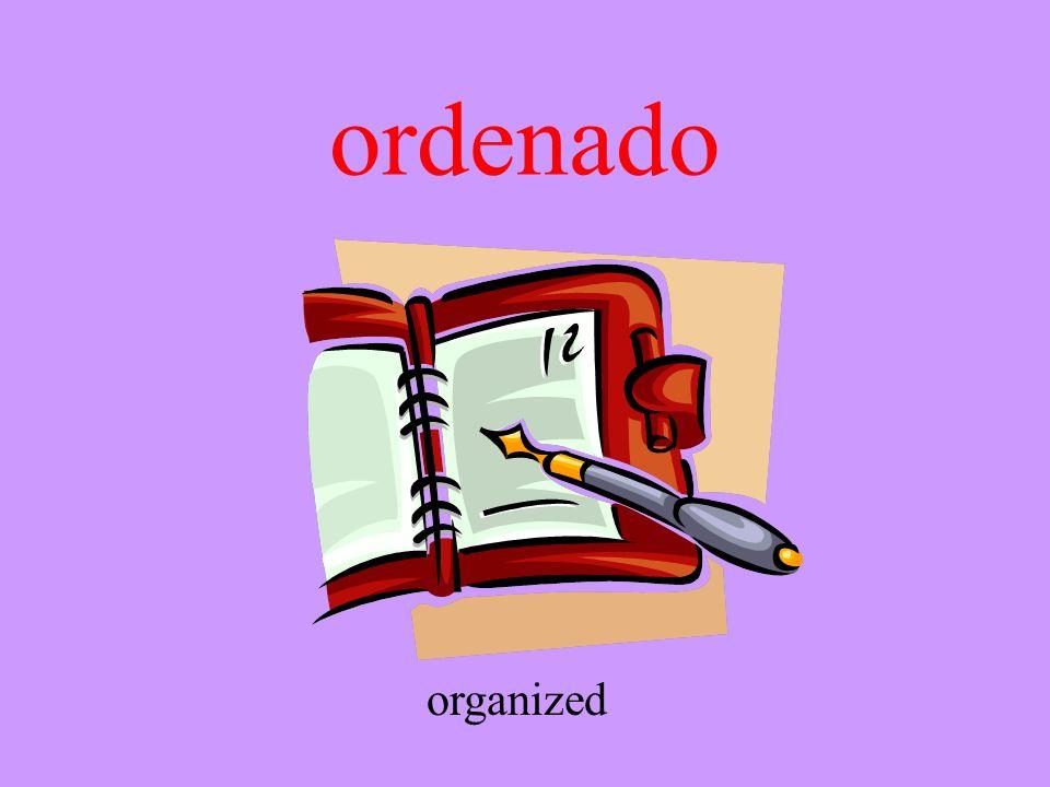 ordenado organized