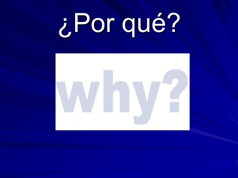 ¿Por qué