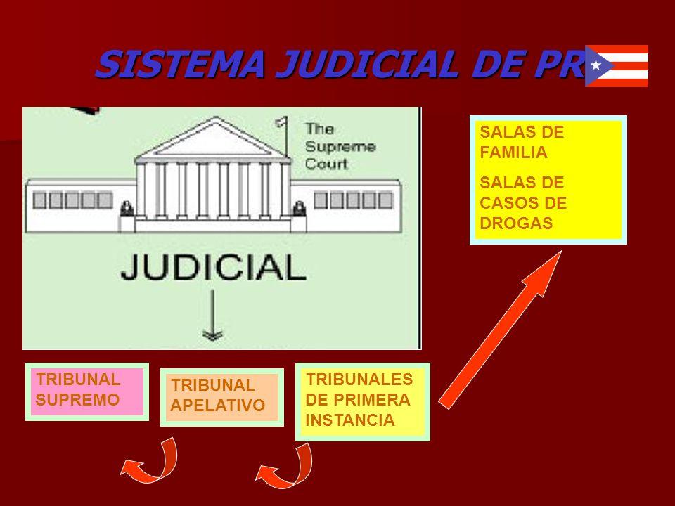 SISTEMA JUDICIAL DE PR TRIBUNAL SUPREMO TRIBUNAL APELATIVO TRIBUNALES DE PRIMERA INSTANCIA SALAS DE FAMILIA SALAS DE CASOS DE DROGAS