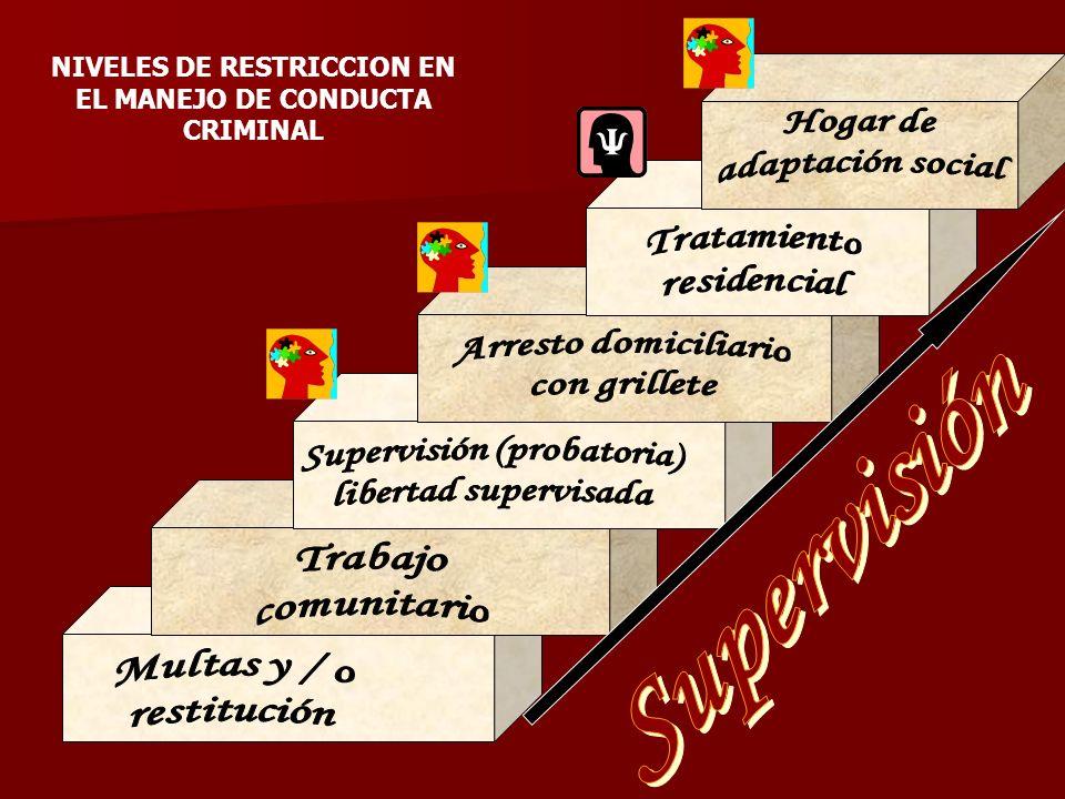 NIVELES DE RESTRICCION EN EL MANEJO DE CONDUCTA CRIMINAL