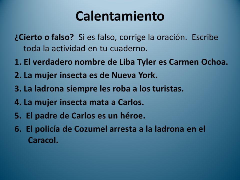 ¿Cierto o falso.1.El verdadero nombre de Liba Tyler es Carmen Ochoa.