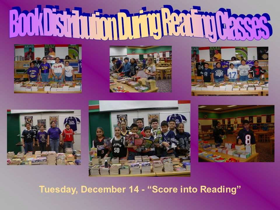 Tuesday, December 14 - Score into Reading