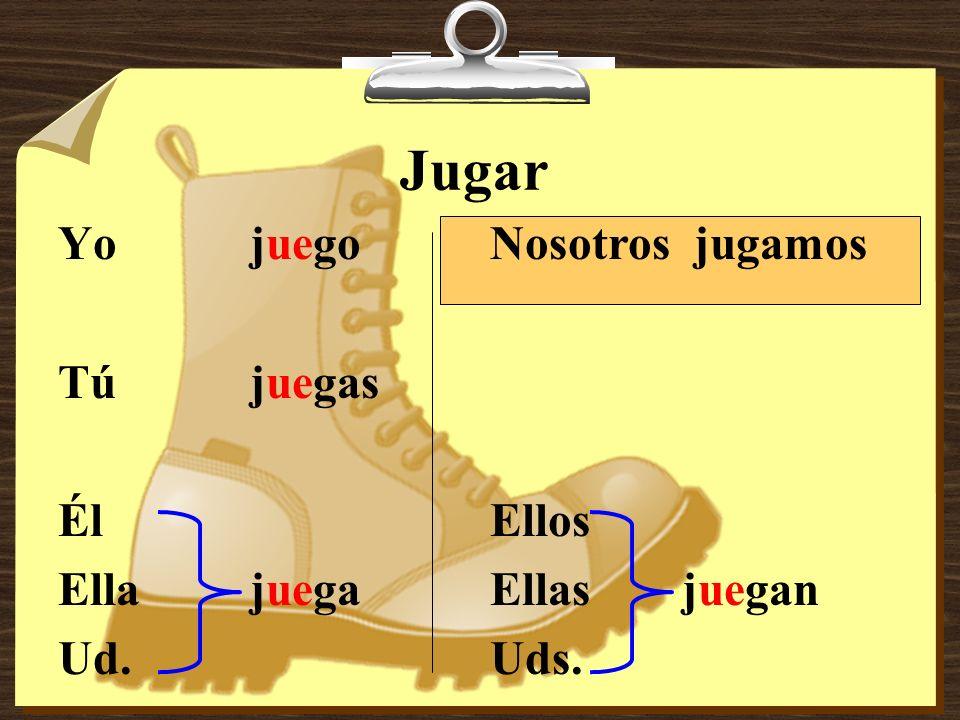 u > ue 1.Jugar to play (a sport or game)