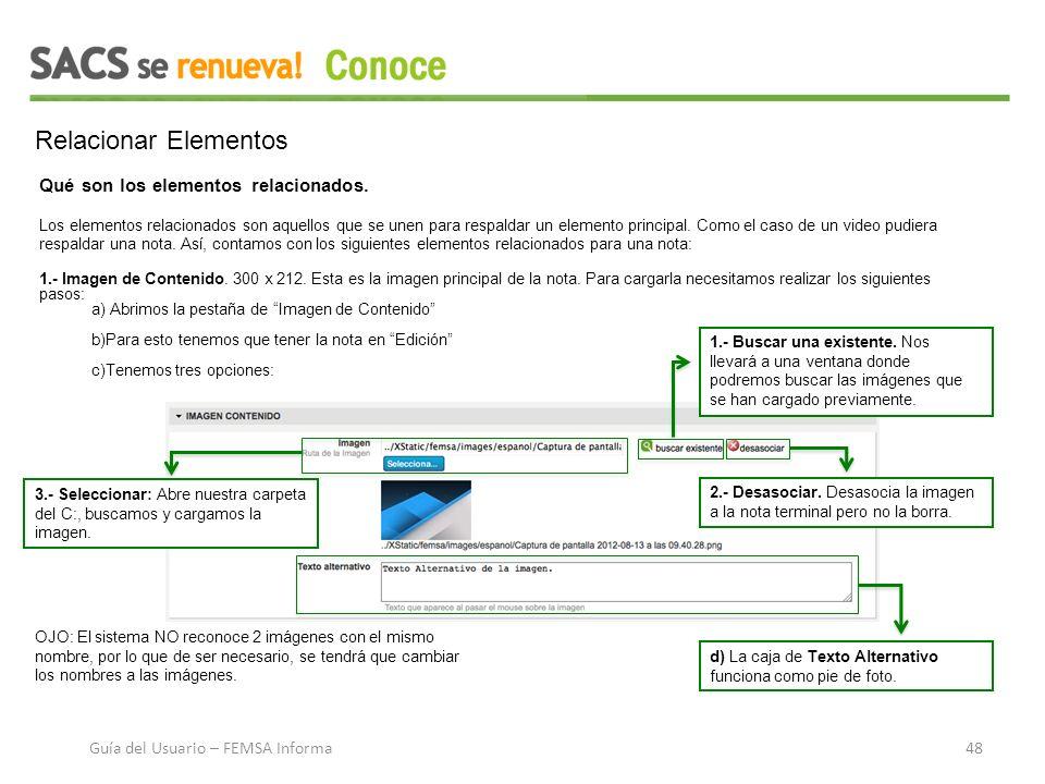 Relacionar Elementos Qué son los elementos relacionados.