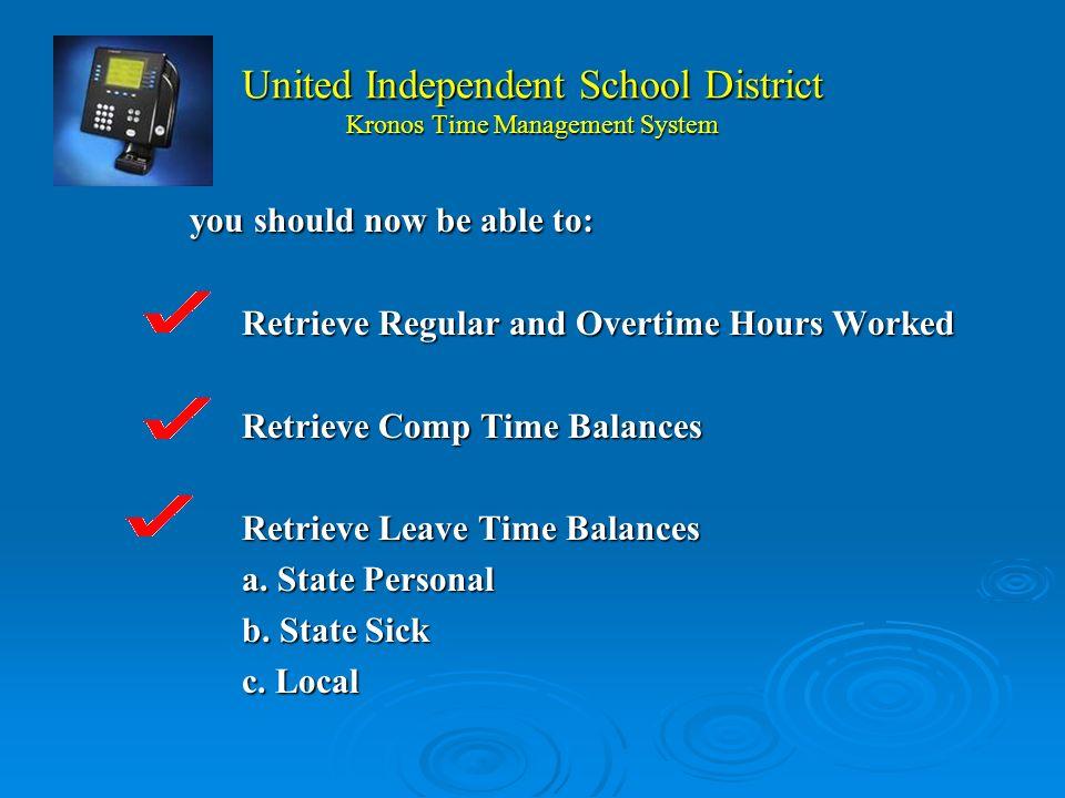 United Independent School District Kronos Time Management System Por eso es muy importante entregarla forma titulada UISD edit log para correjir su tarjeta de marca que pueda affectar su pago.