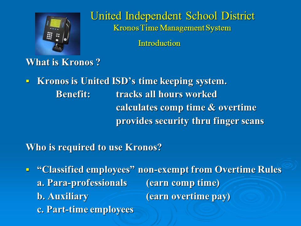 United Independent School District Kronos Sistema de Manejo del Tiempo PRESENTADORES NÓMINA: Rosa Cabello Asistente de Director de Contabilidad TECNOL