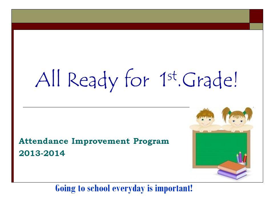 Todos listos para primer grado.