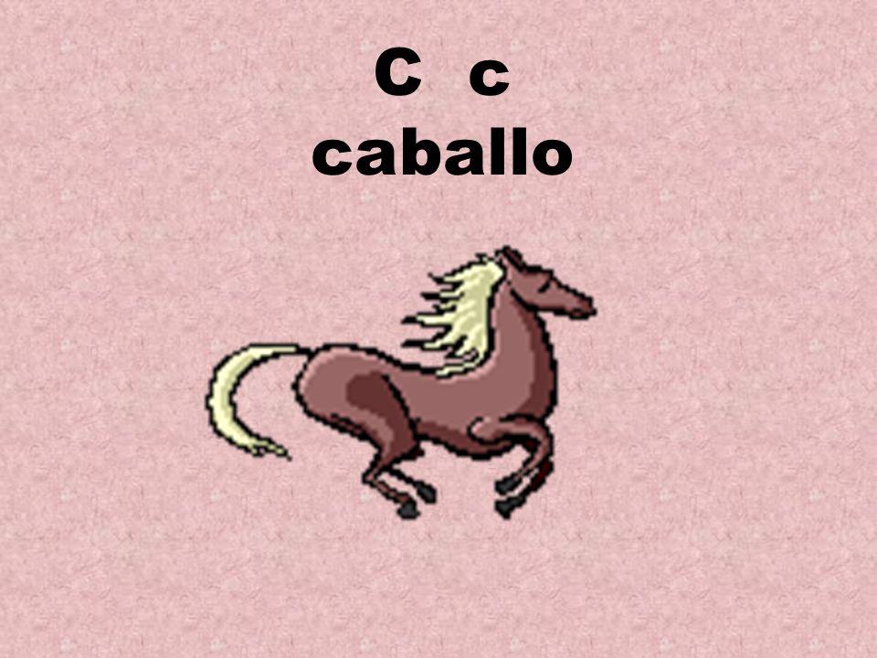C c caballo