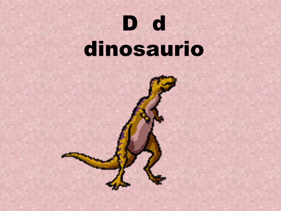 D d dinosaurio