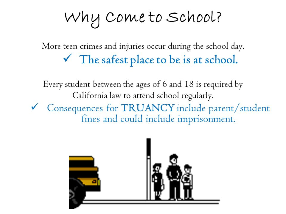 ¿Por que asistir a la escuela.La mayoria de crimenes juneviles occurren durante el dia escolar.