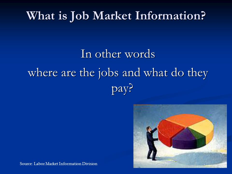 What is Job Market Information.In other words where are the jobs and what do they pay.