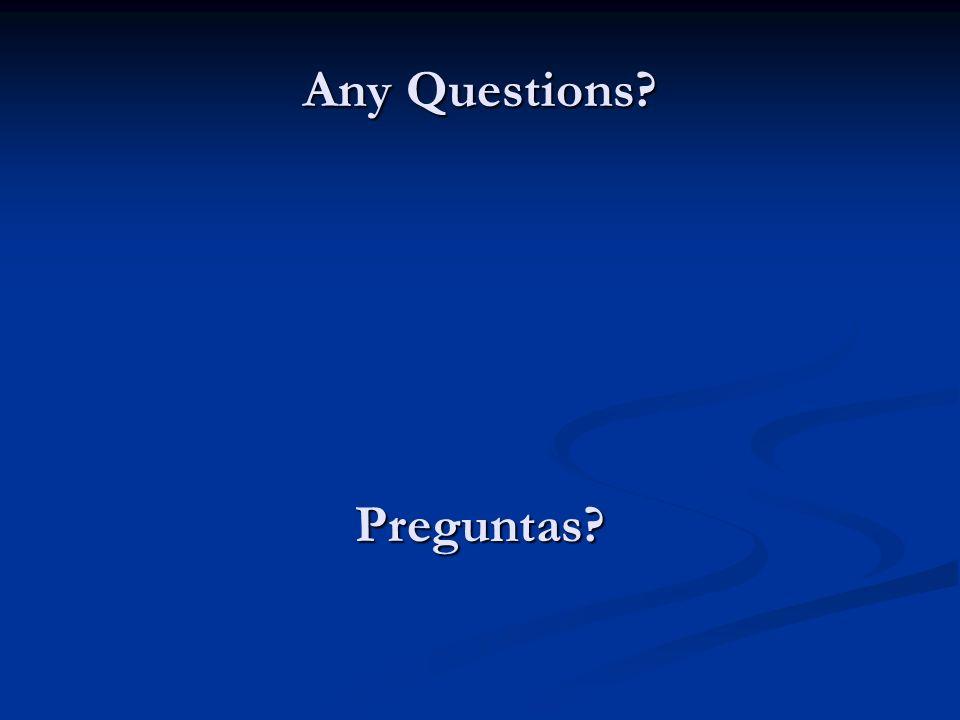 Any Questions Preguntas