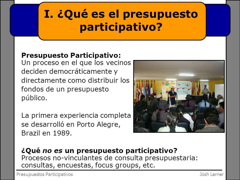 Josh LernerPresupuestos Participativos III.¿Cómo introducir el presupuesto participativo.