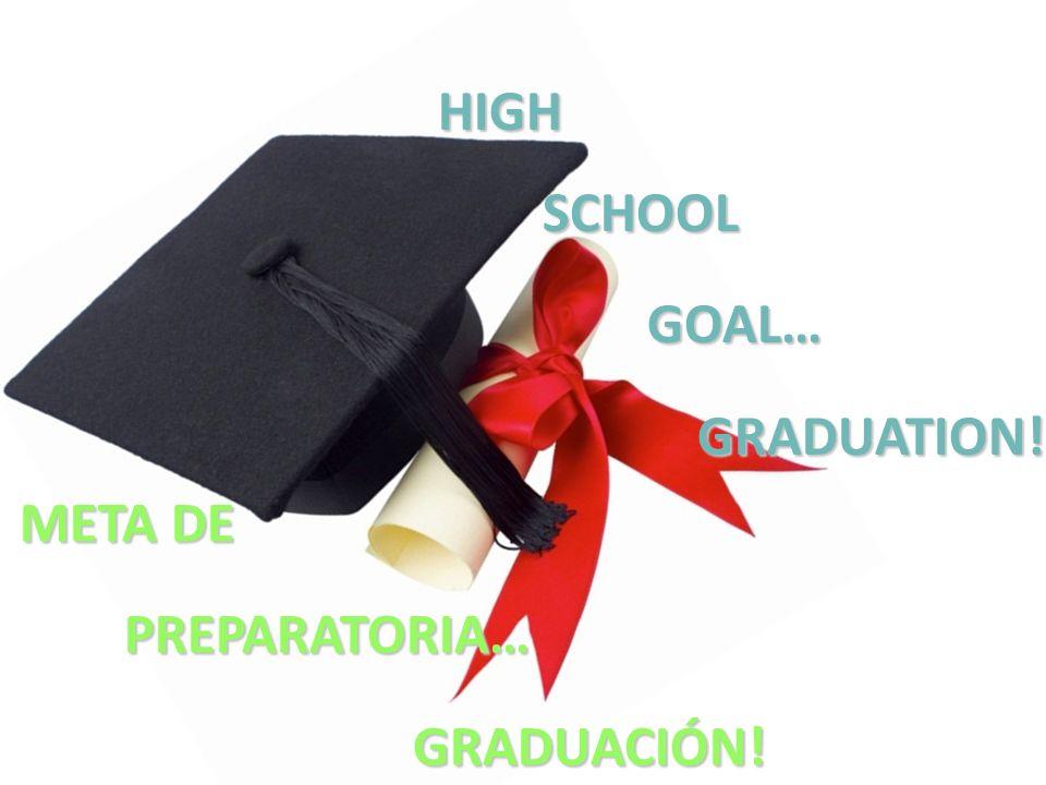 HIGHSCHOOLGOAL…GRADUATION! META DE PREPARATORIA… GRADUACIÓN!