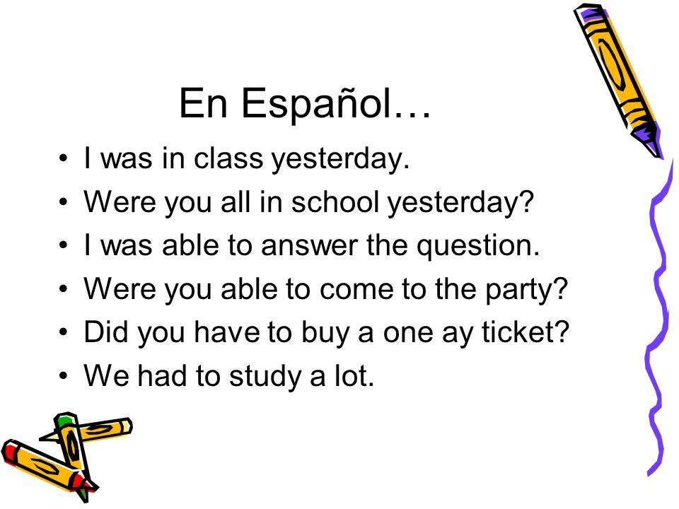 En Español… I lost my purse on the train.Were lost a lot of money.