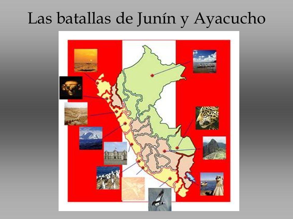 Las batallas de Junín y Ayacucho