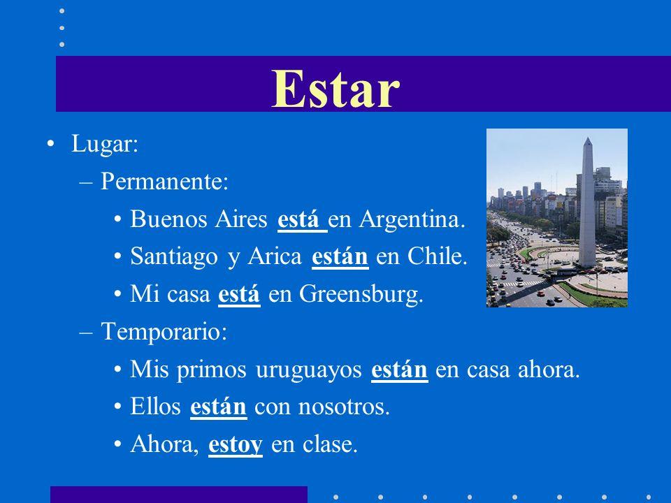 Lugar: –Permanente: Buenos Aires está en Argentina.