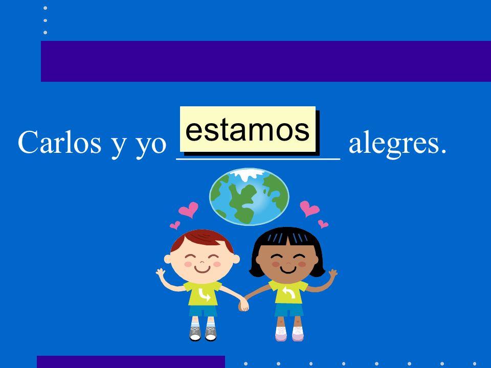 Carlos y yo __________ alegres. estamos