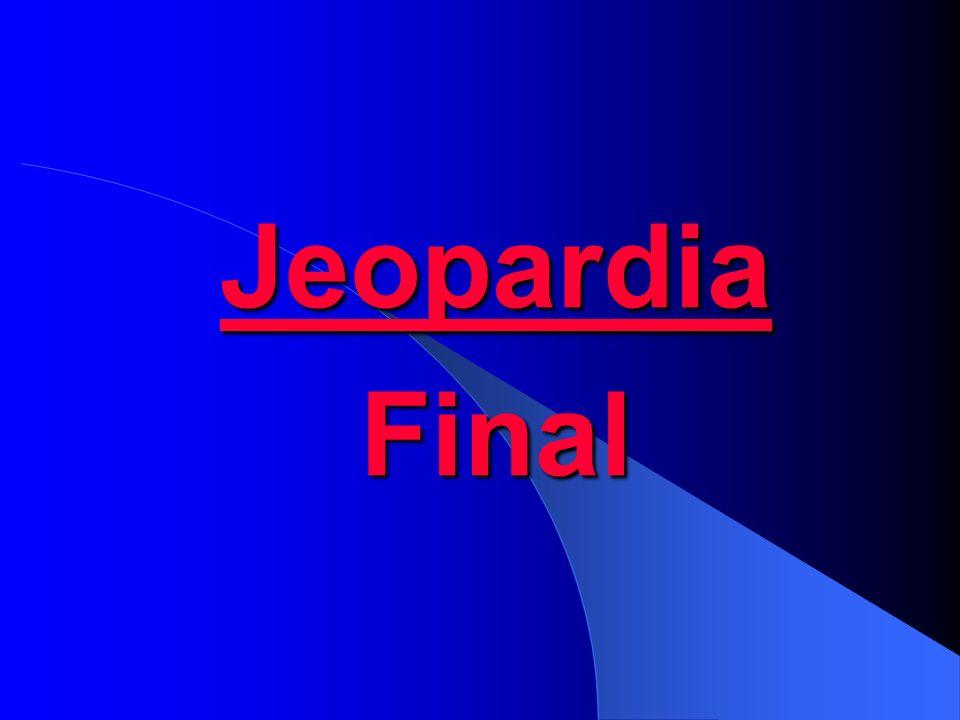 Jeopardia Final