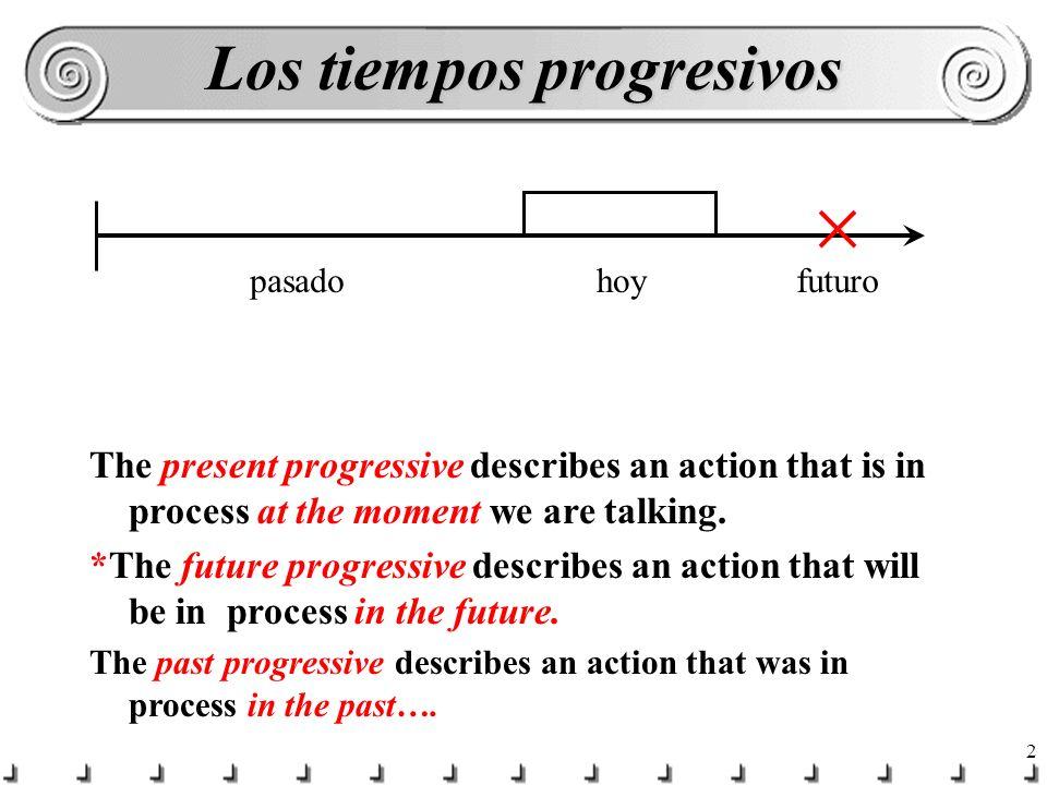 1 Los tiempos Progresivos