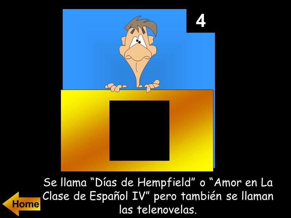 4 Se llama Días de Hempfield o Amor en La Clase de Español IV pero también se llaman las telenovelas.